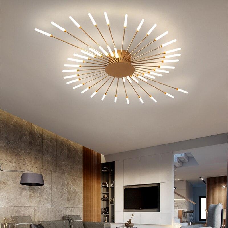 novo led lustre para sala de estar quarto casa lustre moderno conduziu a lampada