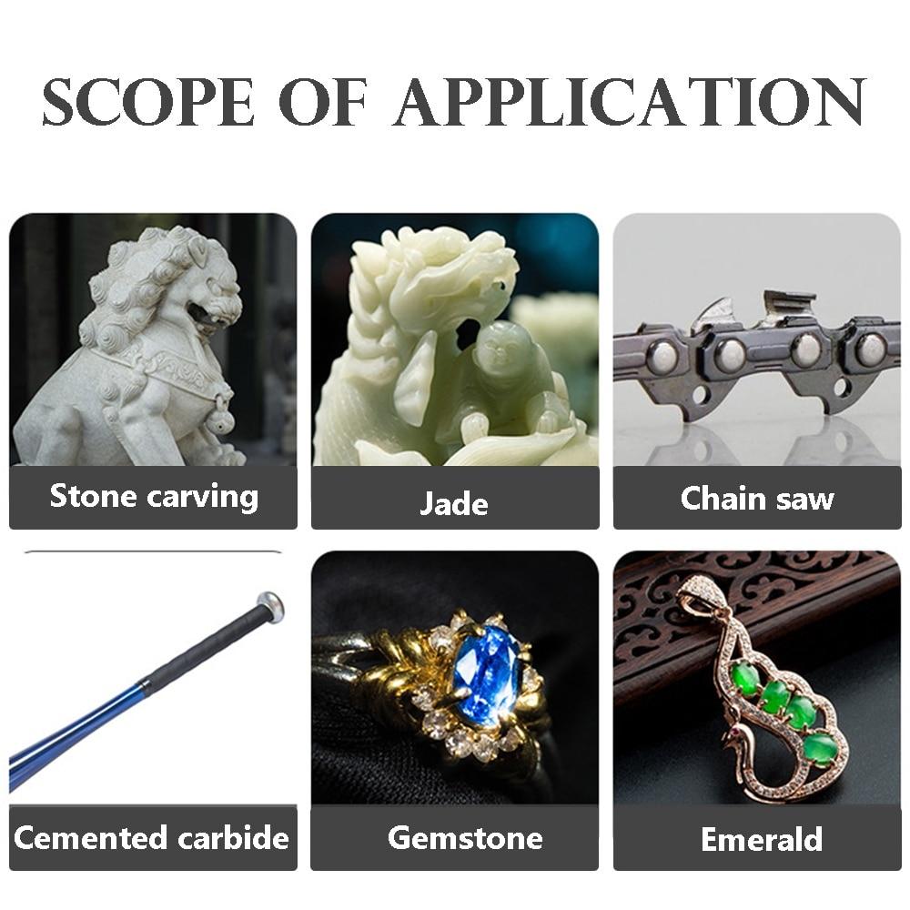 5 vnt. Deimantais padengtas cilindrinis grandininio pjūklo akmuo, - Abrazyviniai įrankiai - Nuotrauka 4