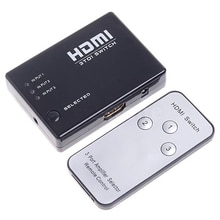 Mini 3 Port HDMI Switch Switcher Splitter 1080P HD Video + IR Remote