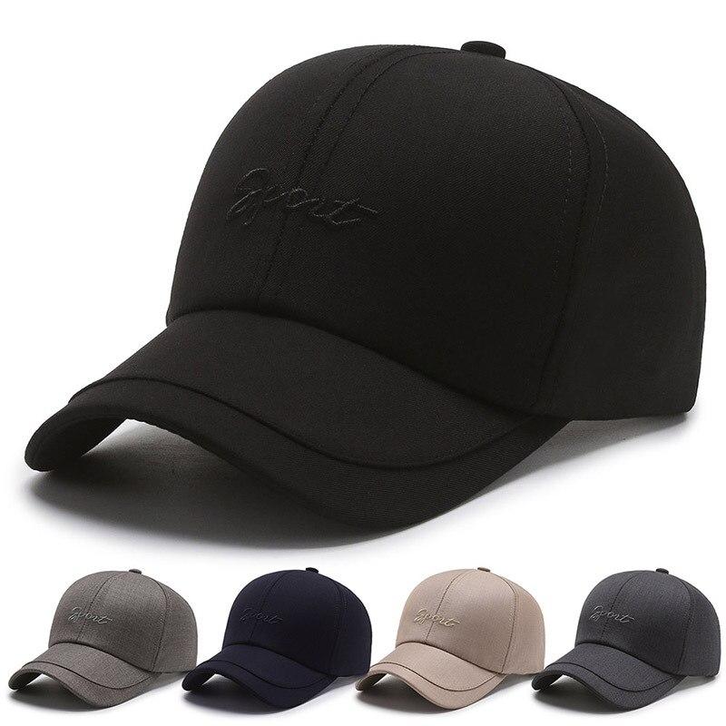 Кепка мужская модная черная кепка Корейская универсальная мужская кепка бейсболка с вышивкой Кепка для защиты от солнца среднего возраста