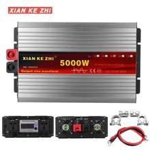 Onduleur 12V/48V/60/72V 220V 2600/5000W transformateur de tension onduleur à onde sinusoïdale Pure DC12V à convertisseur ca 220V + affichage LED