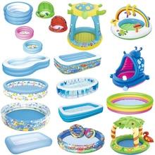 Bébé piscine gonflable baignoire ronde belle Animal imprimé fond enfant été jouer balle piscine enfant eau jouet