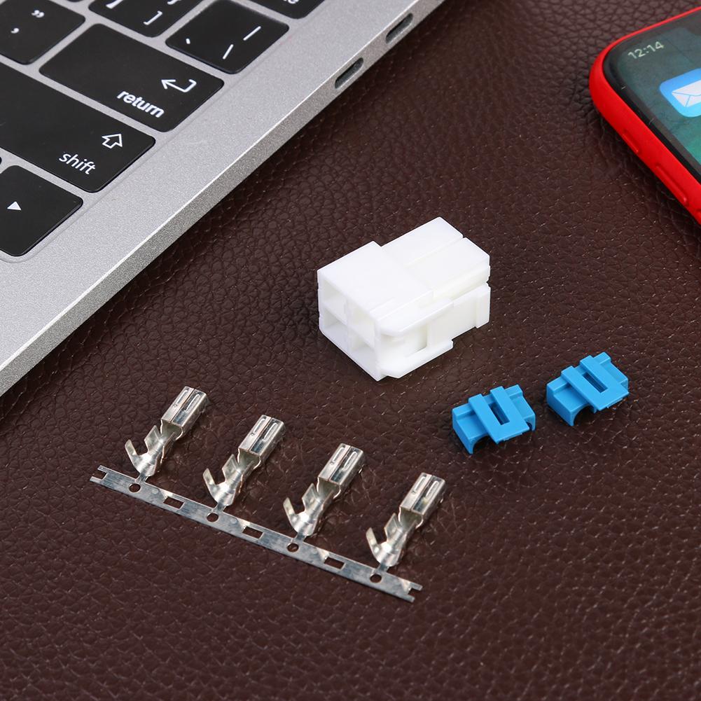ALLOYSEED 4-Pin Power Connector Plug For Icom IC-7000 IC-7100 IC-7400 IC-7600 YAESU FT-450 KENWOOD TS-480 Radio DIY Cable Plug