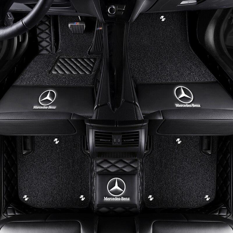 Car Floor Mat For Mercedes W203 W204 W205 W201 W202 Amg C43 C63 C216 C320 C160 C180 C200 C220 C210 Accessorie Floor Mat Carpets Floor Mats Aliexpress