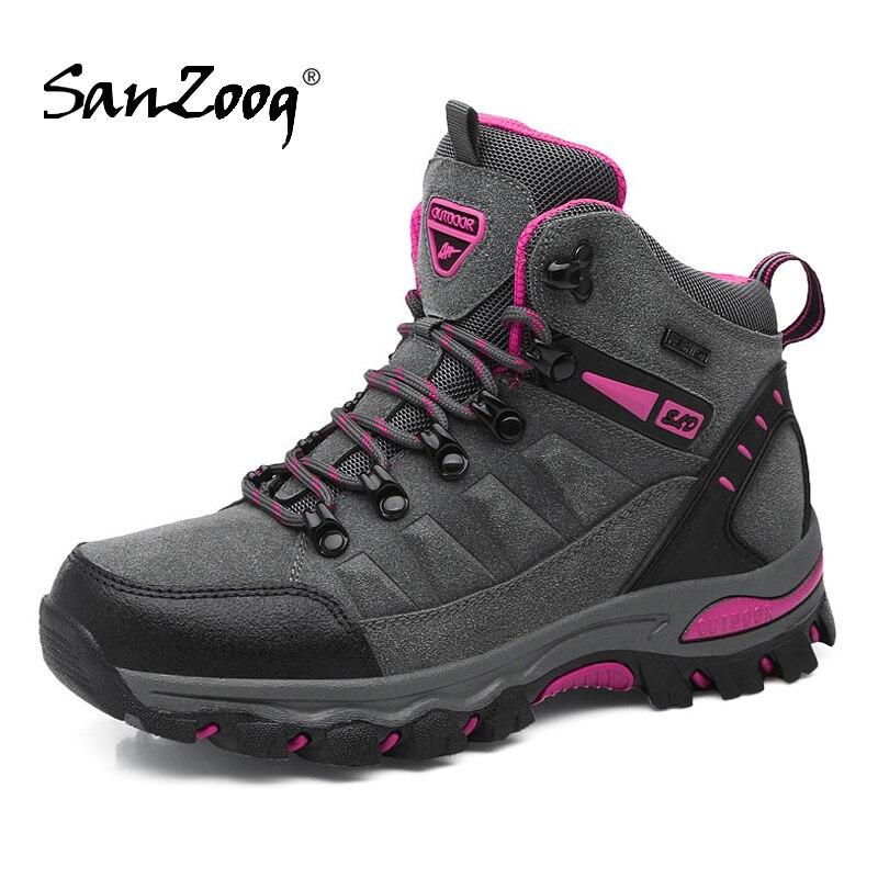 Botas de senderismo profesionales impermeables de Invierno para mujer, zapatos de Trekking al aire libre para mujer trepador Buty Trekingowe Sepatu Gunung Mountain