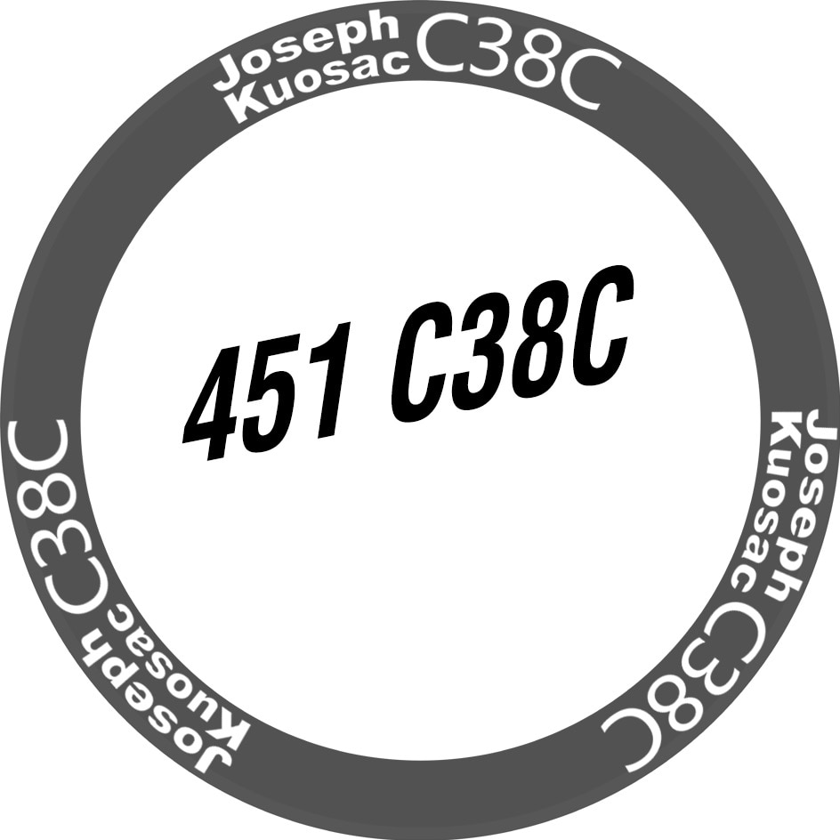 Joseph Kuosac JK406/451 pegatinas para dos ruedas, calcomanías ahuecadas, calcomanías plegables para bicicleta ciclismo, tamaño personalizado