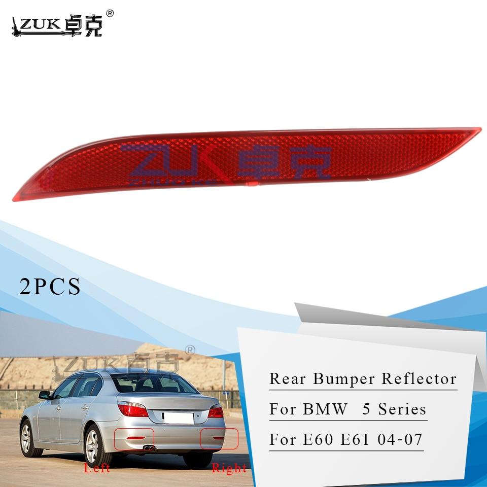 ZUK 2PCS Traseiro Refletor Fog Lâmpada Luz de Nevoeiro Para BMW E60 E61 5 5 Série 520 523 525 530 535 540 545 550 M5 Ano 2004-2007
