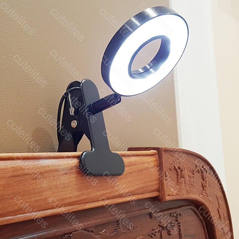 Lampe de bureau LED avec pince lampe de lecture à intensité variable lampe de Table USB soins des yeux lampe de chevet LED pince de veilleuse bébé Lapto