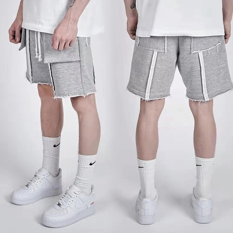 2021 Spring And Summer Fashion New Five-Point Straight Running Casual Pants Loose Sports Shorts Men