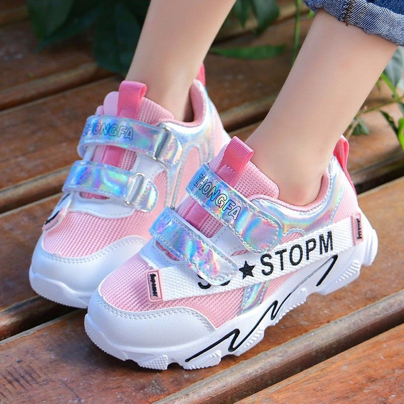 Hermosos zapatos casuales para niños de malla transpirable zapatillas antideslizantes de deporte ligero niños zapatos casuales para niñas Niño