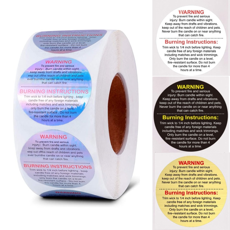 500-pz-rotolo-laser-avvertimento-etichetta-candela-impermeabile-barattolo-di-candela-adesivi-contenitore-cera-fusione-etichetta-di-sicurezza-vow-etichetta-adesiva-oro