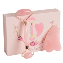 Natural Rose Quartz Massage Tools Slimming Face Relax Facial Skin Detoxification Anti-wrinkle for Wo