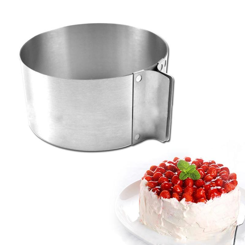 16-30 см Регулируемая Многослойная слайсер для торта из нержавеющей стали выдвижной круглый мусс кольцо режущего инструмента Круглый резак для торта