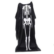 Disfraz con capa de calavera para adultos y niños, traje de Halloween, Cosplay de muerte, fantasma, actuación