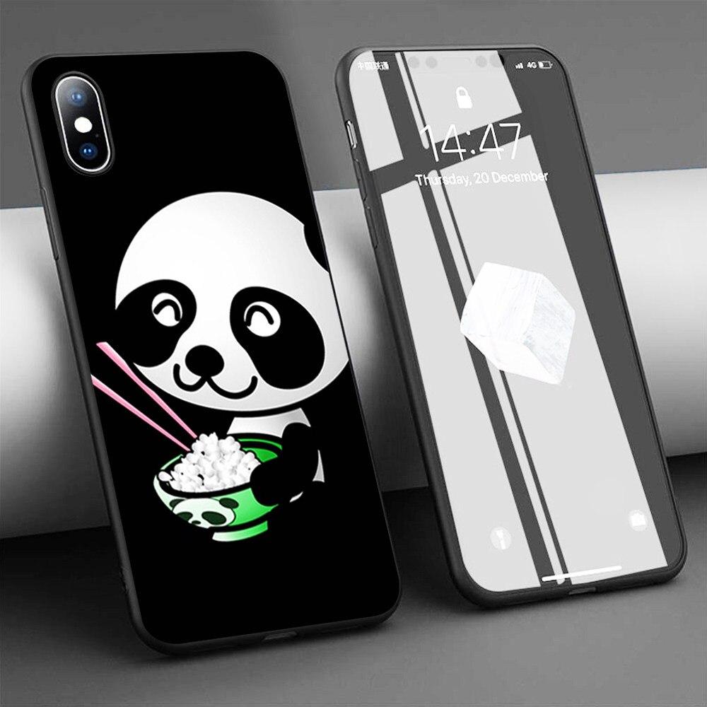 Funda de teléfono de silicona blanda Coque Sushi Panda para iPhone 11 Pro Max X 5S 6 6S XR XS Max 7 8 Plus