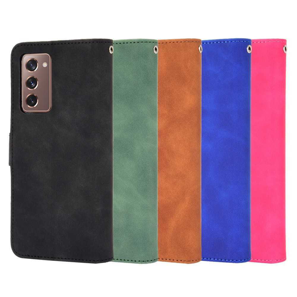 For Samsung Galaxy Z Fold2 Case Silicone Wallet PU Leather Phone Case For Samsung  Z Fold2 Case Flip Back Cover Accessories