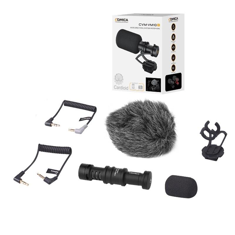 Gravação de Vídeo Microfone na Câmera Dslr com Choque-montagem para Dji Comica Osmo Gopro Smartphone Canon Nikon Sony Cvm-vm10ii