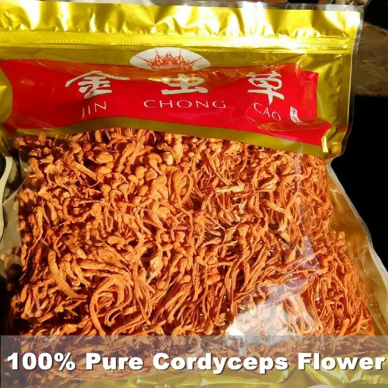 زهرة كورديسبس الصينية العضوية 500 جرام ، زهرة سينينسيس نقية عالية الجودة لتحسين المناعة