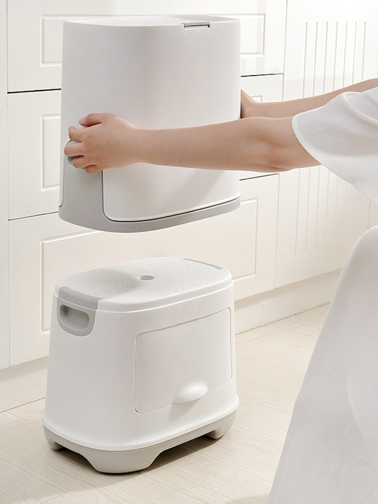 Japanese Multifunction Trash Can Double Layer Waste Bin Kitchen Litter Recycling Cabinet Storage Poubelle Garbage Bin EH50TC enlarge