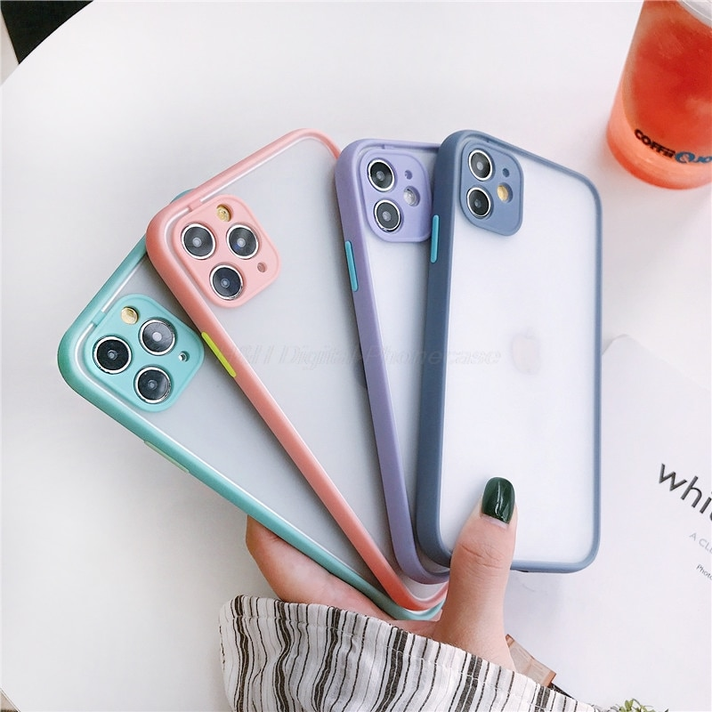 Camera Protection Bumper Phone Case For OPPO Reno 3 Pro A5 A7 A7X A11 A31 A72 A91 A92S R9S R11 Translucent Shockproof Back Cover