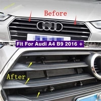 car middle insect screening mesh front grille insert net anti mosquito dust cover kit accessories fit for audi a4 b9 2016 2019