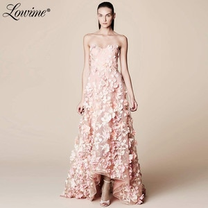 2020 Couture Celebrity Dresses High Low Prom Dress Pink Formal Women Evening Wear Red Carpet Party Dress Runaway Gowns Vestidos