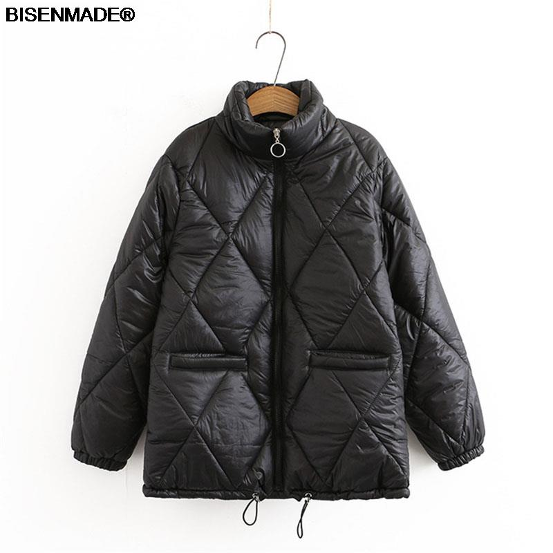 Autumn Winter Parka Women Clothes Plus Size&Curve 2021 New Padded Coat Stand Collar Outerwear