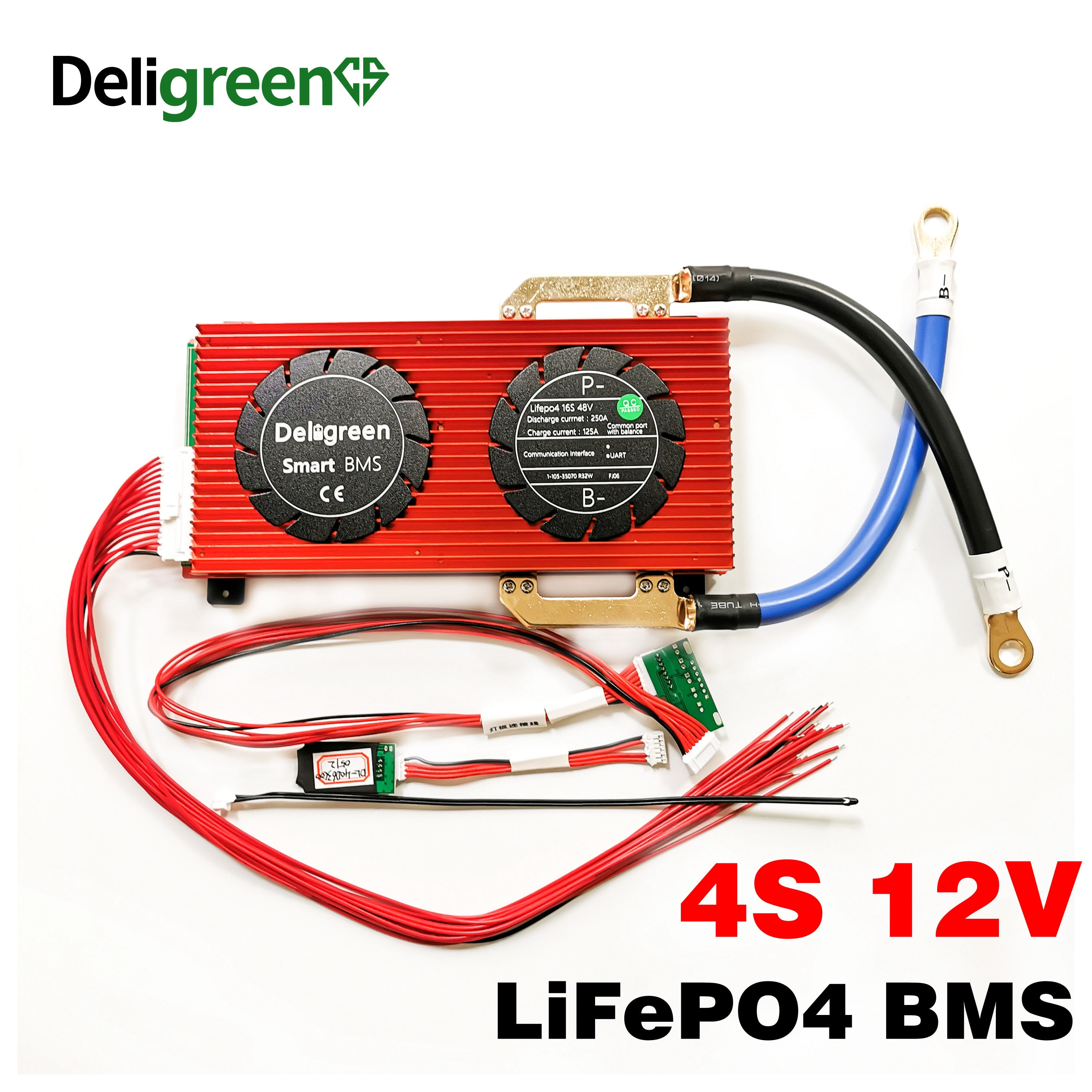 Bluetooth Smart BMS 4S 150A 200A 250A LiFePO4 Battery BMS  for 14.6V Battery pack with Bluetooth CAN communicatio UART RS485