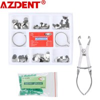 Полный комплект, стоматологическая матрица, секционные Контурные матрицы + 40 шт. силиконовых дополнительных клиньев + стоматологические пл...