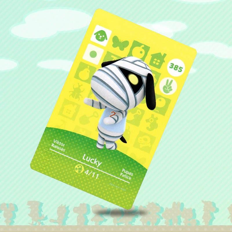 Tarjeta de cruce Animal de la suerte 385, tarjeta Amiibo, funciona para NS Switch Game New Horizons