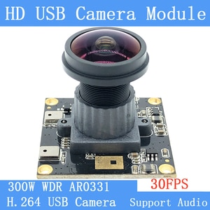 Wide-angle Mini Surveillance Webcam 3MP Full HD 1080P H.264 Wide Dynamic Linux UVC 30FPS USB Camera Module with Microphone