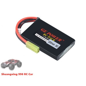 2S 7.4V 2200mah Lipo Battery 25C T Plug Connector for Shuangxing 990 1/10 RC Drift Car 2.4G 4WD Off-road Vehicle Crawler Truck