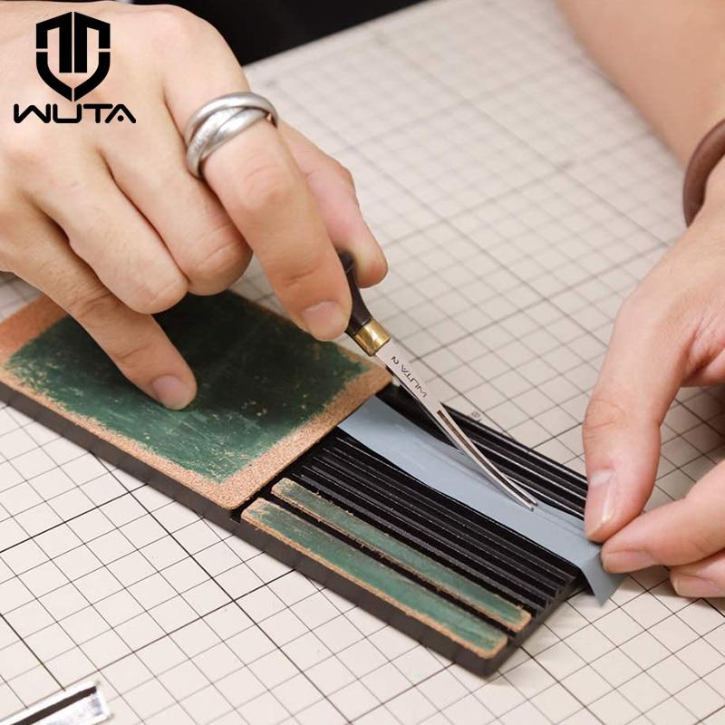 WUTA Multifunctional Leather Edge Beveler Sharpener Sharpening Strop Tool Polish Grind Knife Wide Shovel Cutting Edge Skiving