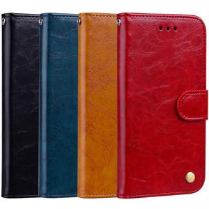 Leather case business oil wax pattern for Huawei nova3 3i p20 p20pro p20lite Y6 Y7 Y9 MATE20 nova5