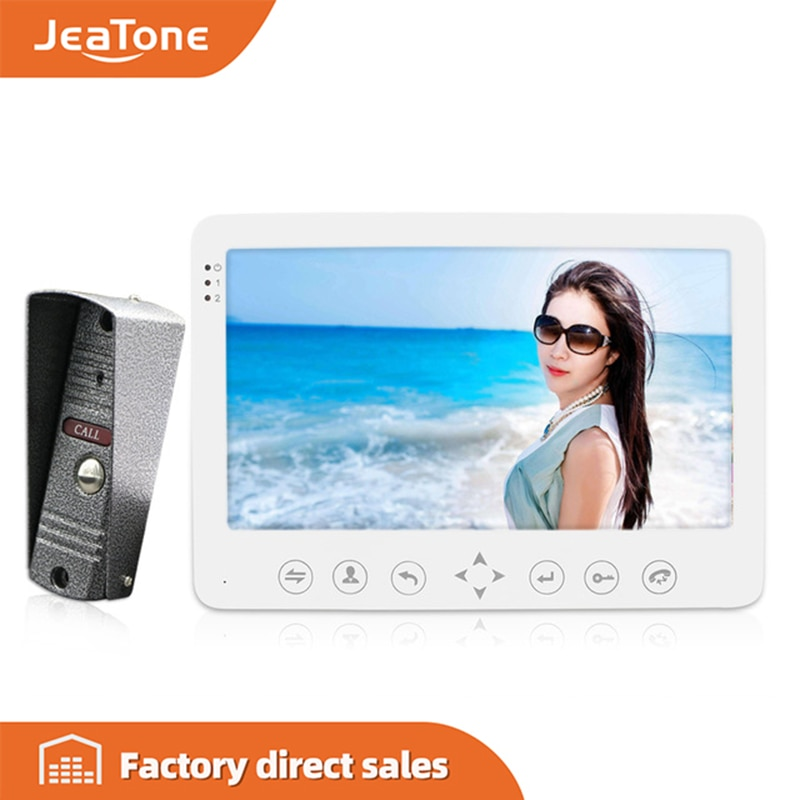 "JeaTone 7 ""Built-in Memory 1 cámara al aire libre 1 Monitor Video portero intercomunicador timbre de puerta impermeable Multi-idiomas menú"