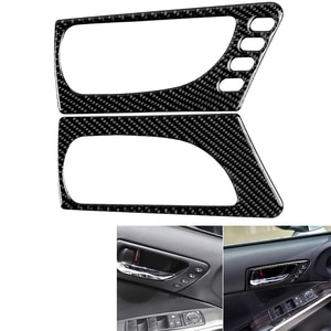 For Lexus IS250 IS300 IS350 2014-2018 Car Styling Carbon Fiber Sticker Front Door Handle Cover Trim Stickers