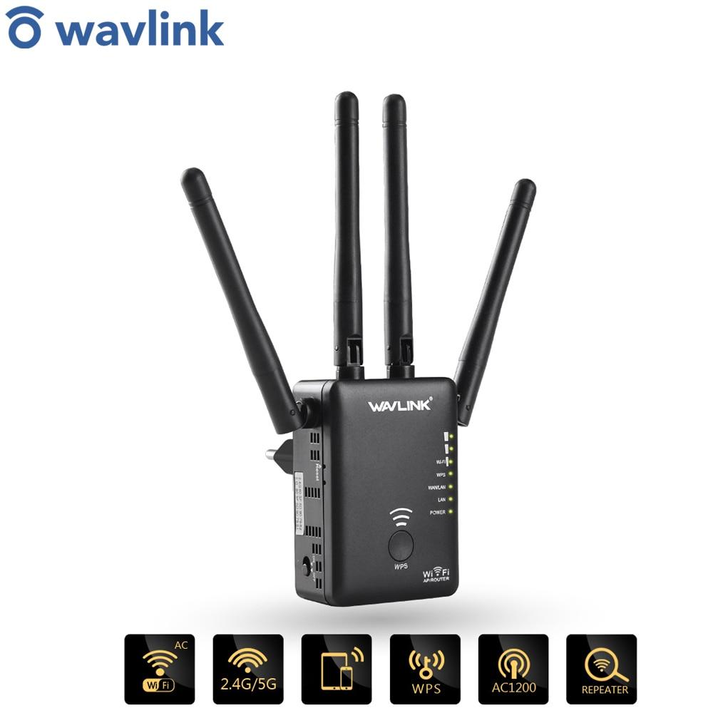 Wavlink AC1200 wifi ретранслятор / маршрутизатор /точка доступа беспроводной Wi-Fi диапазон расширитель усилитель сигнала с внешними антеннами горяча...