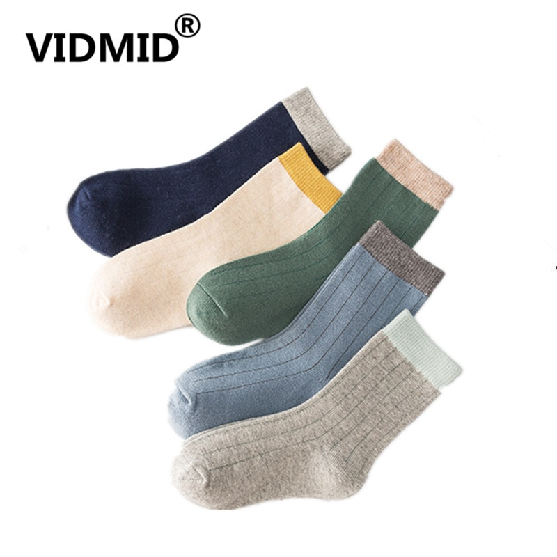VIDMID  children's socks autumn new embroidery cartoon animal striped cotton kids boys girls socks kids cotton clothes 4127 03