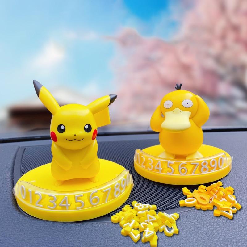 Pikachu dedos Charmander Squirtle Bulbasaur Jigglypuff Psyduck modelo temporal placa para Número de estacionamiento coche decoración regalo