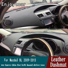 Tapis de bord en cuir RHD   Pour Mazda 3 Mazda3 BL 2009 2010 2011 2012 2013 tapis de bord, accessoires de style de voiture
