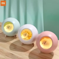 new xiaomi pet house cute atmosphere night light kids bedside gifts usb charging touch dimmable lamp bluetooth speaker light