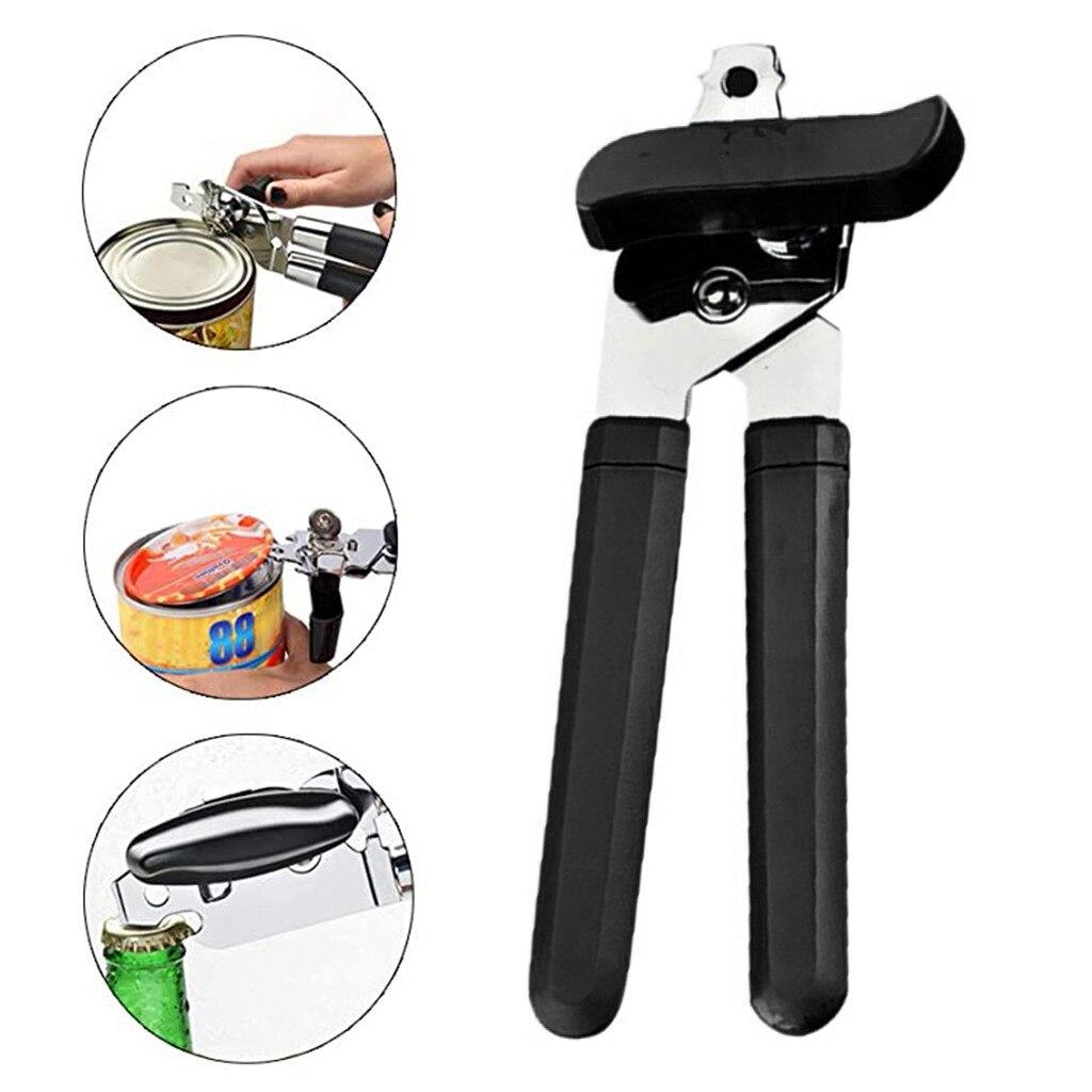 Abridor de lata portátil de aço inoxidável abridor de parafuso handheld manual de múltiplos propósitos faca de enlatamento pode abrir ferramentas ao ar livre #35