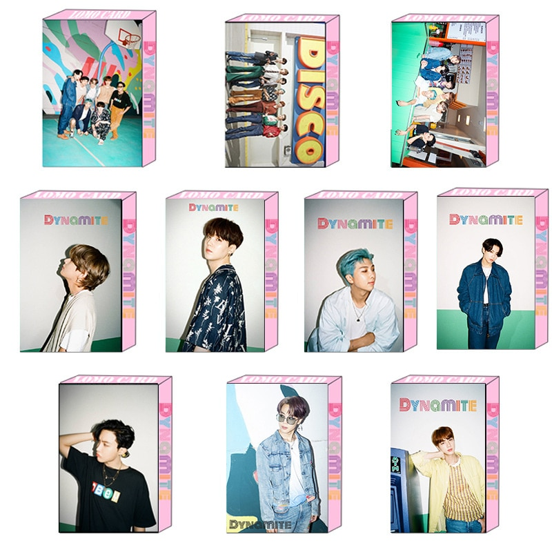 KPOP Bangtan Boys новый альбом динамита та же Личная ломо-карта маленькая карточка Случайная карточка открытка охватывающая