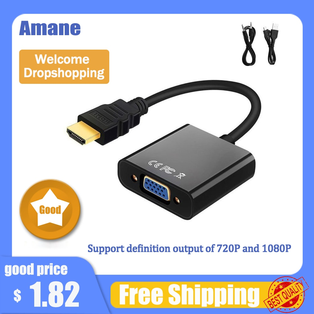 HD 1080P adaptador de HDMI a VGA macho a hembra convertidor de...