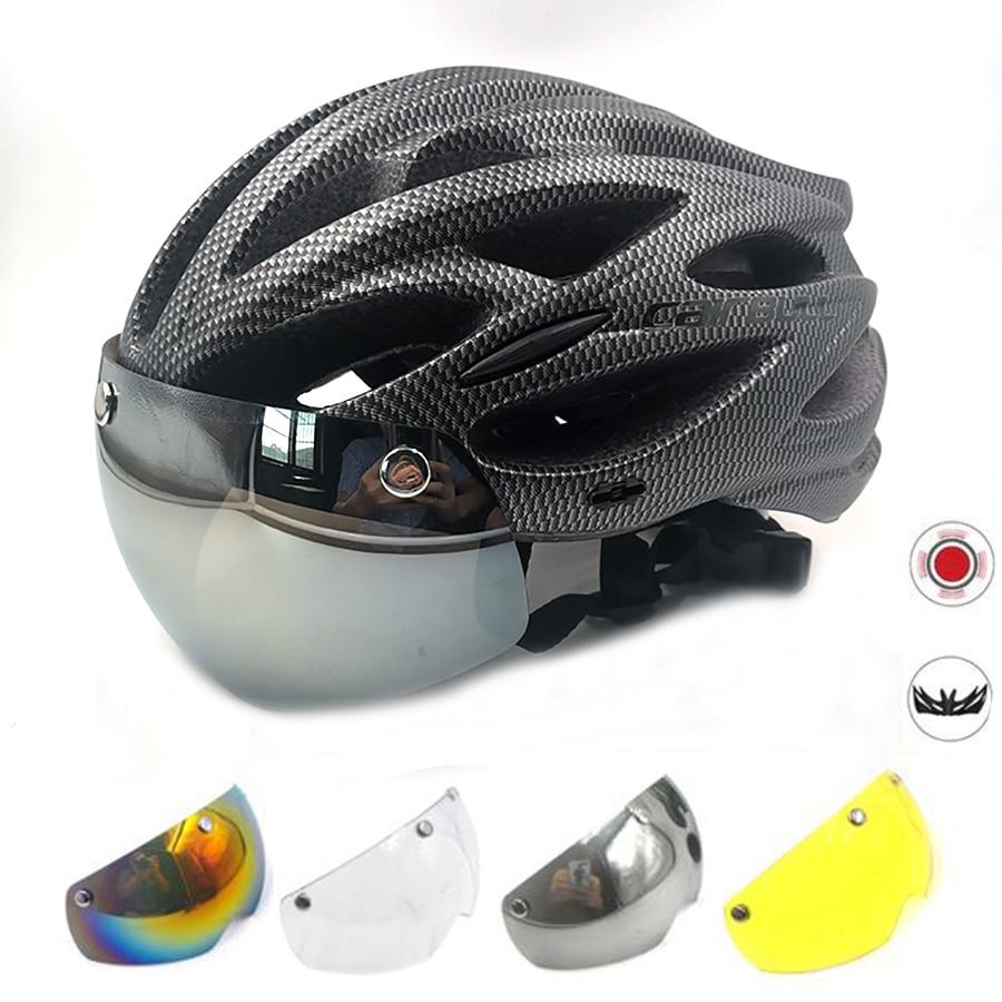 Cairbull-Casco ultraligero para bicicleta de montaña, luz Led con visera extraíble, Accesorios...