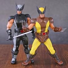 Mezco Toyz Marvel X-Men Wolverine Logan Real Clothes PVC Action Figure Model Toy