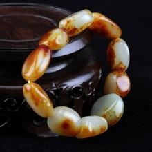 Bracelets de perles brutes en Jade naturel jadéite bracelet en jade irrégulier hetian ajouter certificat bracelet en jade bracelet en pierres précieuses