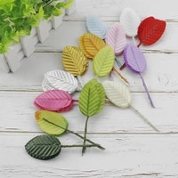 10 pcs silk leaf fake leaves artificial plants for christmas home decorations wedding decorative wreaths diy gift box decoration