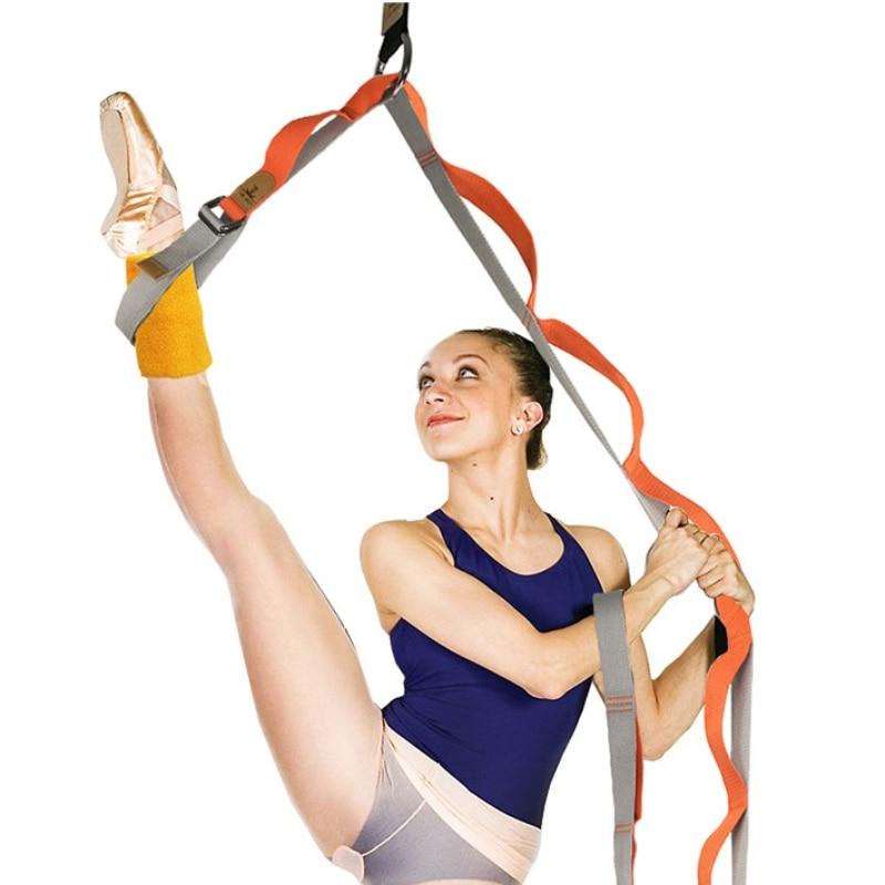 Cinturón elástico de Yoga con bucles, puerta colgante, Yoga, entrenamiento de baile, cuerda, correa de estiramiento de pierna para danza, cinturón de entrenamiento dividido