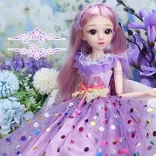 Nouveau 60cm BJD poupée 1 poupées articulées avec des vêtements de beauté tenue chaussures perruque maquillage meilleur cadeau danniversaire pour les filles